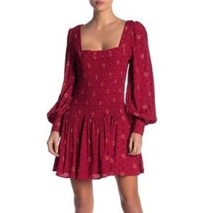 FREE PEOPLE Two Faces Print Minidress